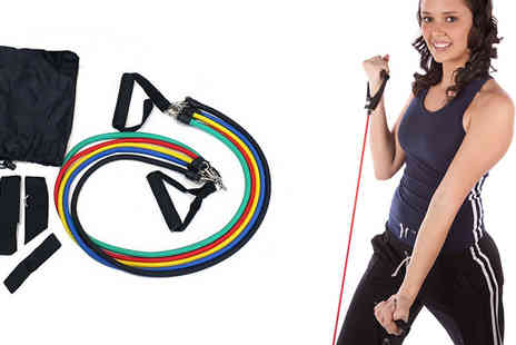 The Treasure Chest - 11 Piece Resistance And Exercise Bands Set - Save 73%