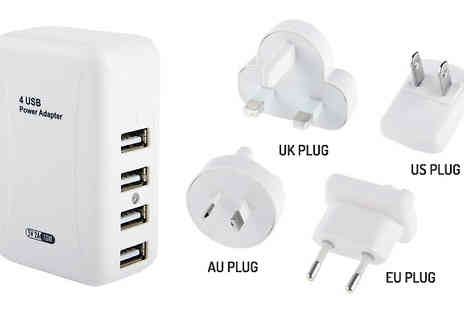Rose River - Four in One USB Universal Travel Plug - Save 70%