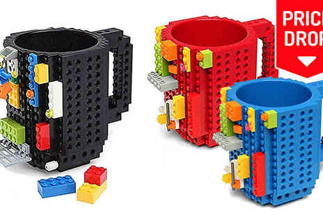 eFindbest - Lego Compatible Build On Brick Mug Three Colours - Save 66%