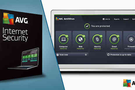 Software Link - One Year AVG Internet Security for One or Three Users - Save 69%