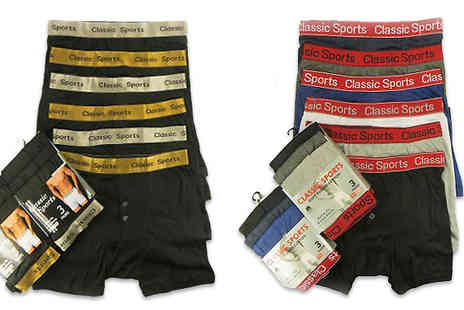 RZK Textiles - Multipack of Mens Boxers 6 or 12 - Save 19%