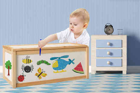 Real Shopping - Wooden toy box - Save 75%