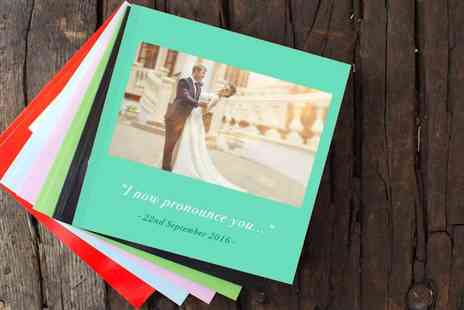 Huggler - 100 page square softcover photo book with personalised cover - Save 62%