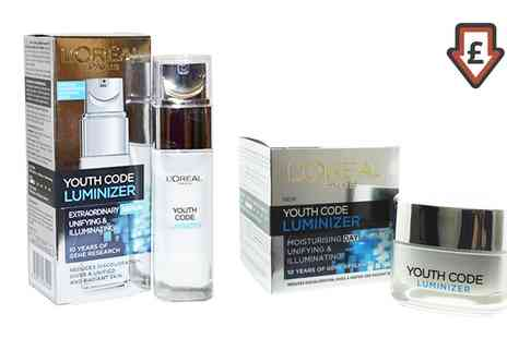 Groupon Goods Global GmbH - LOreal Youth Code Luminizer Set - Save 0%