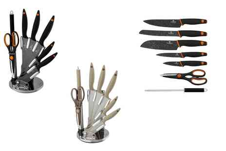 Groupon Goods Global GmbH - Eight Piece Knife Set with Stand - Save 0%