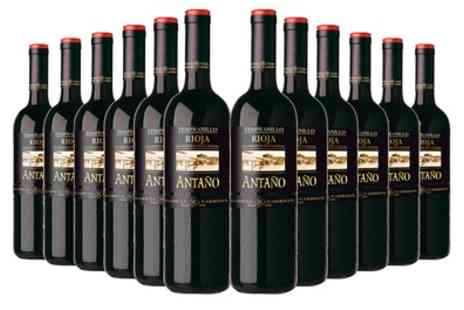 Vineyard Club - 12 Bottles Antaño Rioja Tempranillo Wine With Free Delivery - Save 64%