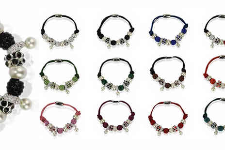 Pearl Info - Beaded Charm Bracelet with Faux Pearls in 12 Colours - Save 79%