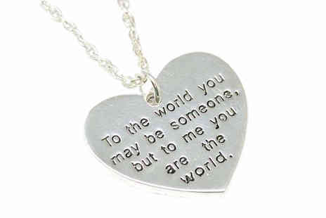 Nesher - Love Heart Pendant With Sentimental Engraving - Save 0%