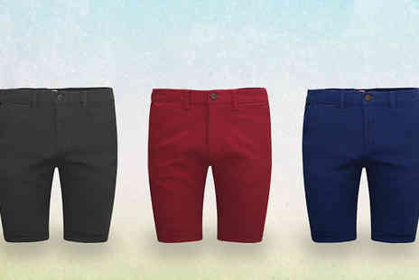Stallion Clothing - Mens Roll Up Chino Half Pants - Save 0%