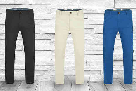Stallion Clothing - Mens Chino Trousers Available in Three Colours - Save 0%