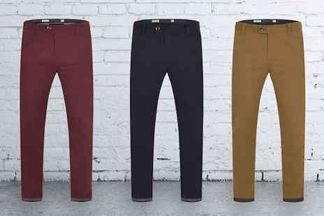 Stallion Clothing - Mens Designer Chino Trousers - Save 0%