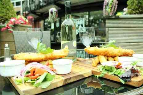 Barca - Fish and Chips for two with a bottle of wine to share - Save 52%
