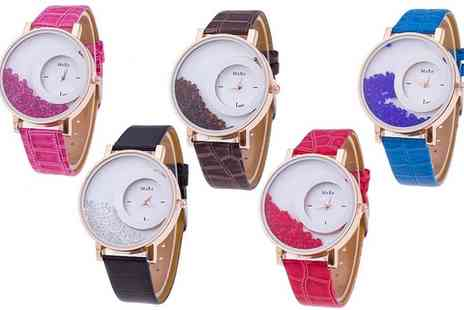 Groupon Goods Global GmbH - Dazzler Watch with Floating Crystals from Swarovski - Save 0%