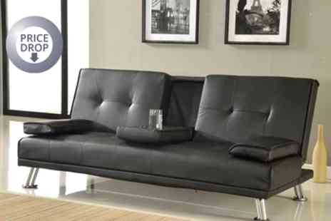 Groupon Goods Global GmbH - Indiana Three Seater Sofa Bed in Choice of Colour With Free Delivery - Save 73%
