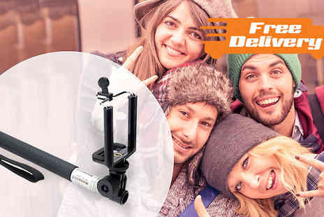 GPSK - Selfie Stick with Built in Wired Shutter with Free Delivery - Save 0%