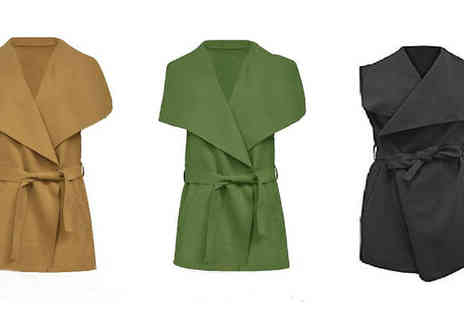 Elle and Be - Waterfall Sleeveless Jacket in 3 Colours - Save 50%