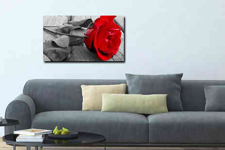 Castel Canvas Prints - 18 x 12 inch Red Rose Canvas Print - Save 27%