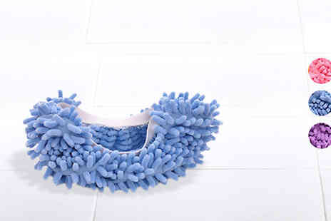 Affinity International - Microfibre Mop Slippers in 3 Colours - Save 80%