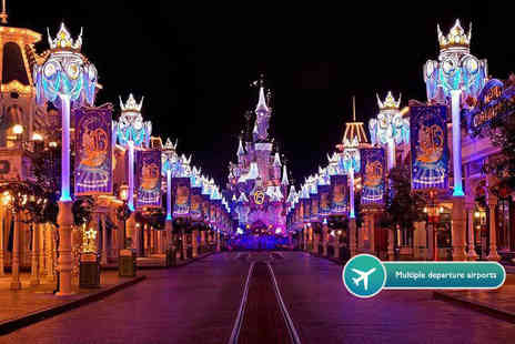 Tour Center - Two night Disneyland Paris Christmas themed stay including flights and one day two park entry - Save 26%