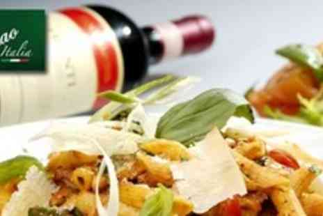 Ciao Italia - Pizza or Pasta Dish For Two With Wine and Sides - Save 63%
