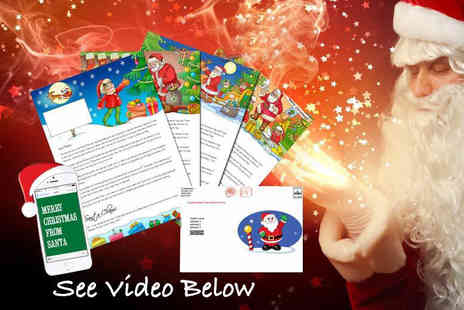 Fuel Tank Media - Personalised letter and text message from Santa including an activity pack plus Delivery Included - Save 50%