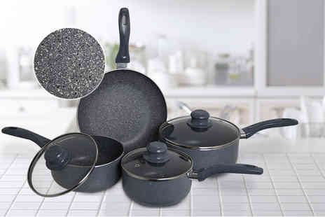 direct2publik - Seven apiece marble coated cookware set - Save 78%