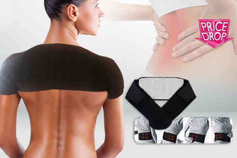 The Pretty Essential Company - Self heating back support or double shoulder support or both - Save 0%