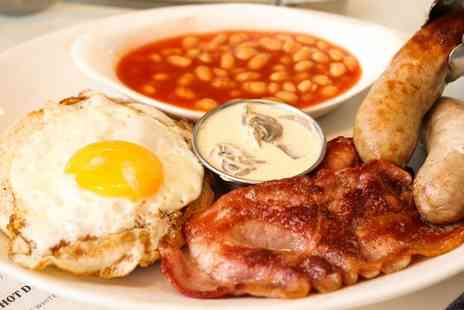 Heaps Sausages - Breakfast Plate or Sausage and Mash with a Hot Drink for One or Two - Save 42%
