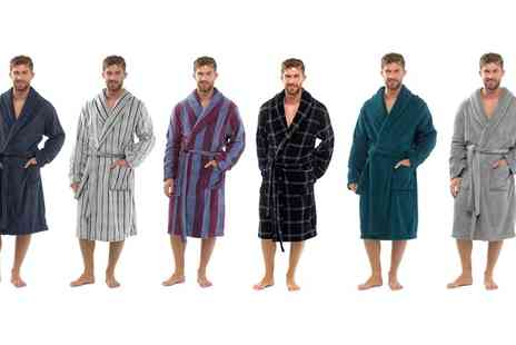 Groupon Goods Global GmbH - Mens Fleece Dressing Gown - Save 0%