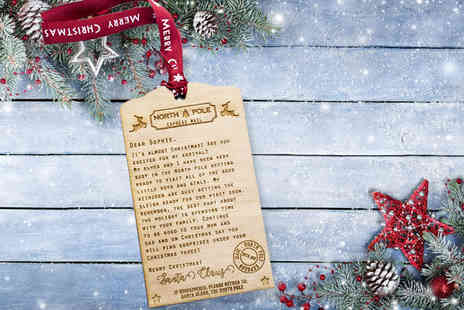 Shop Sharks - A personalised wooden Santa letter - Save 75%