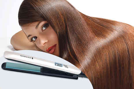 Deals Direct - Pair of Remington Shine Therapy Argan oil infused hair straighteners - Save 75%