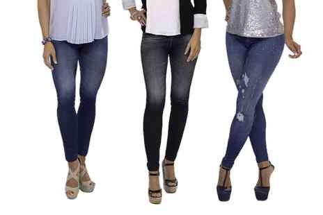 Groupon Goods Global GmbH - Pack of Three Thane Slim N Lift Jeggings - Save 0%