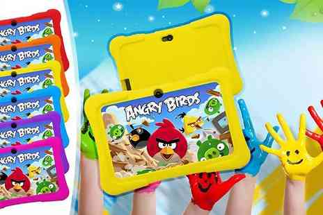 D2D - Kids seven inch dual core touchscreen Android tablet and silicone case - Save 78%