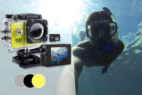 Toy Meets World - 720p waterproof HD action camera - Save 83%
