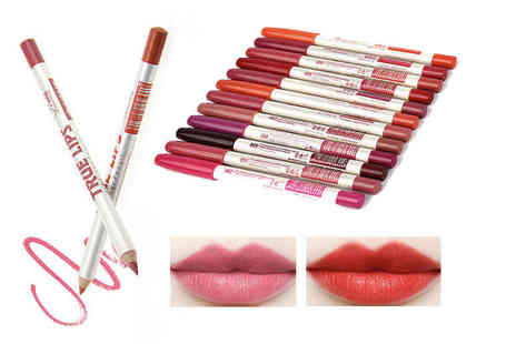 Alvis Fashion - Pack of 12 true matte lip liners - Save 80%