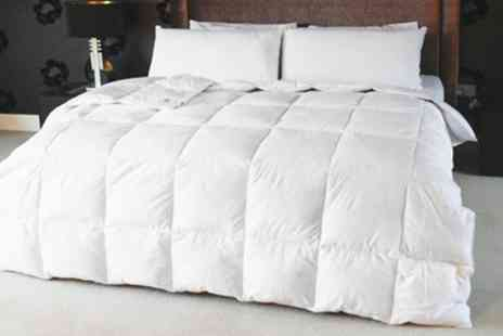 Groupon Goods Global GmbH - 100% Cotton Luxury Duck Feather Duvets With Free Delivery - Save 62%