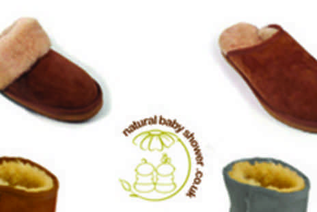 Natural Baby Shower - Beautiful sheepskin boots for kids and slippers for Mum & Dad - Save 50%