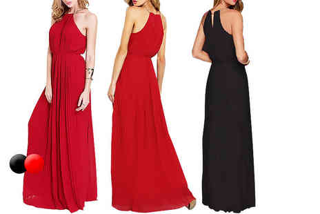 Boni Caro - Pleated maxi dress choose from two colours - Save 88%