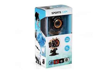 Groupon Goods Global GmbH - Digital Waterproof Action Camera 5.0 Full HD 1080p With Free Delivery - Save 68%