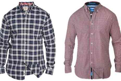 Groupon Goods Global GmbH - Mens Plus Size Collared Checked Shirts With Free Delivery - Save 0%