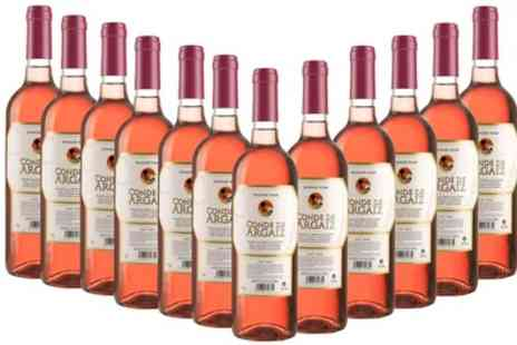 VIP4VIP - 12 Bottles of White or Rose Wine With Free Delivery - Save 61%