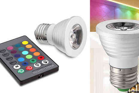 Flawlesssteel - Alternating Multicolour Wireless Bulb - Save 47%
