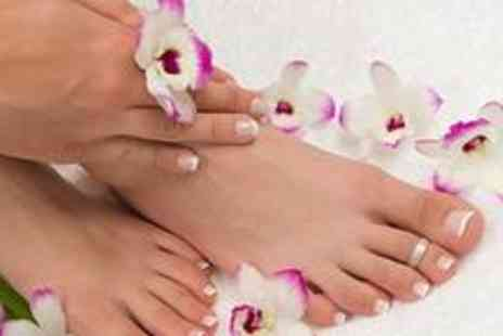 Roma Hair and Beauty - Deluxe manicure and pedicure - Save 70%