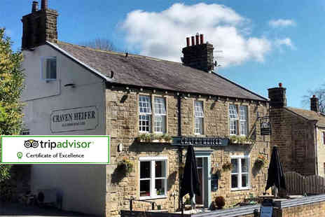 The Craven Heifer - Overnight Yorkshire dales stay for two with a seven course tasting menu and breakfast - Save 37%