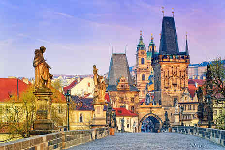 Worldwide Tours & Travel - Two night Prague getaway including breakfast, flights and a river cruise or Hard Rock Cafe dinner - Save 71%