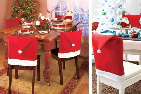 Colour My Wall - Pack of four Santa chair covers - Save 83%