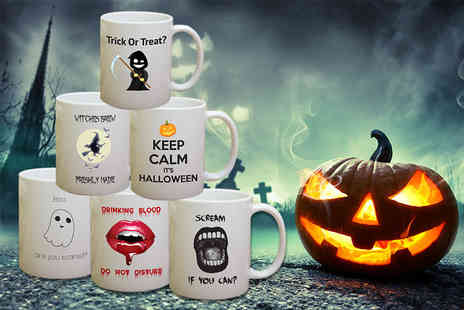 Deco Matters - Ceramic Halloween mug choose one of six designs - Save 60%