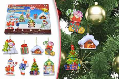 Colour My Wall - Box of 7 Christmas tree baubles - Save 85%
