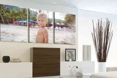 Picanova - Personalised Three Panel Split Canvas in Choice of Size - Save 85%