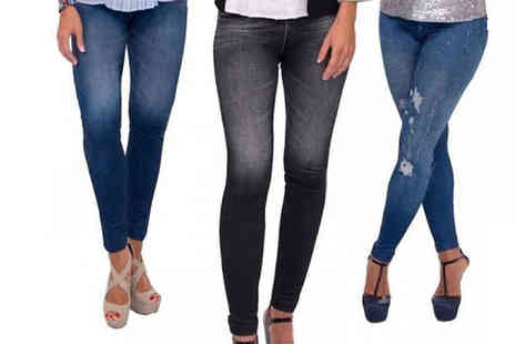 Shop Monk - Slim Fit Jeans Jeggings Pack of 3 - Save 40%